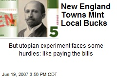 New England Towns Mint Local Bucks