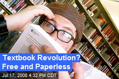 Textbook Revolution? Free and Paperless