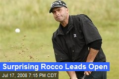 Surprising Rocco Leads Open