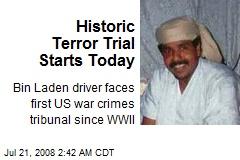 Historic Terror Trial Starts Today