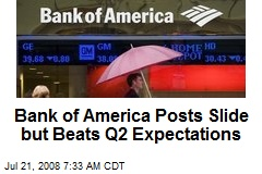 Bank of America Posts Slide but Beats Q2 Expectations