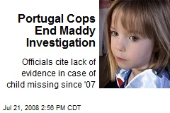 Portugal Cops End Maddy Investigation