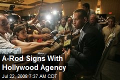A-Rod Signs With Hollywood Agency
