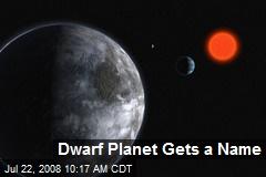 Dwarf Planet Gets a Name