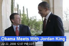 Obama Meets With Jordan King