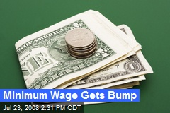 Minimum Wage Gets Bump