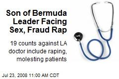 Son of Bermuda Leader Facing Sex, Fraud Rap