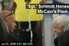 'Sgt.' Schmidt Hones McCain's Pitch