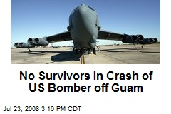 No Survivors in Crash of US Bomber off Guam