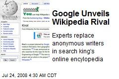 Google Unveils Wikipedia Rival