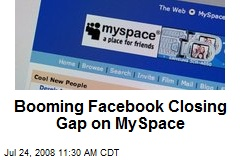 Booming Facebook Closing Gap on MySpace