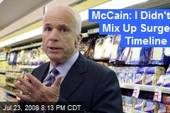 McCain: I Didn't Mix Up Surge Timeline