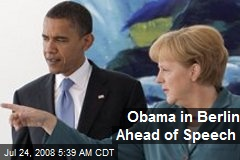 Obama in Berlin Ahead of Speech