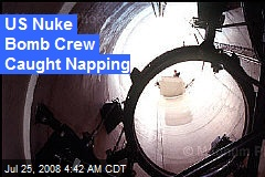 US Nuke Bomb Crew Caught Napping