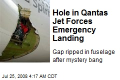 Hole in Qantas Jet Forces Emergency Landing