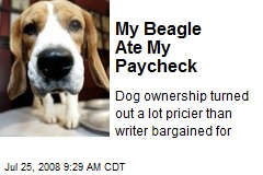 My Beagle Ate My Paycheck