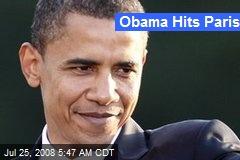 Obama Hits Paris