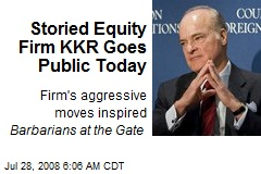 Storied Equity Firm KKR Goes Public Today