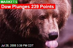 Dow Plunges 239 Points