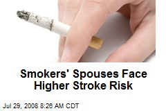 Smokers' Spouses Face Higher Stroke Risk