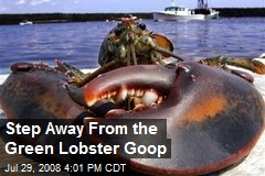 Step Away From the Green Lobster Goop