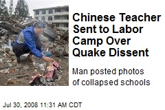 Chinese Teacher Sent to Labor Camp Over Quake Dissent