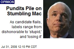 Pundits Pile on Stumbling Mac