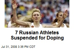 7 Russian Athletes Suspended for Doping
