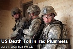 US Death Toll in Iraq Plummets