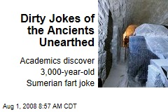 Dirty Jokes of the Ancients Unearthed