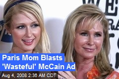 Paris Mom Blasts 'Wasteful' McCain Ad