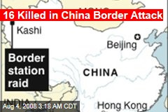 16 Killed in China Border Attack