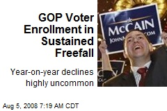 GOP Voter Enrollment in Sustained Freefall