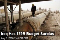 Iraq Has $79B Budget Surplus