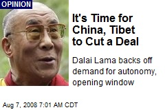 It's Time for China, Tibet to Cut a Deal
