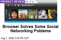 Browser Solves Some Social Networking Poblems