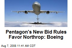 Pentagon's New Bid Rules Favor Northrop: Boeing