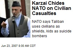 Karzai Chides NATO on Civilian Casualties