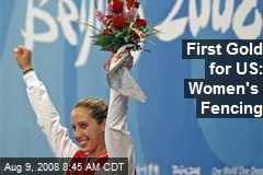 First Gold for US: Women's Fencing