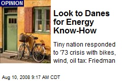 Look to Danes for Energy Know-How