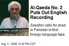 Al-Qaeda No. 2 Puts Out English Recording