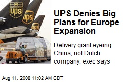 UPS Denies Big Plans for Europe Expansion