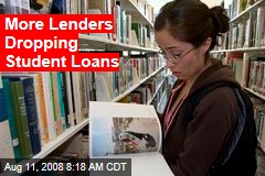 More Lenders Dropping Student Loans
