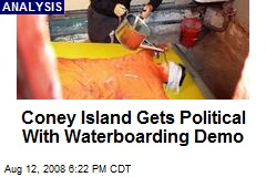 Coney Island Gets Political With Waterboarding Demo