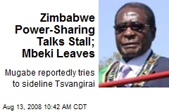 Zimbabwe Power-Sharing Talks Stall; Mbeki Leaves