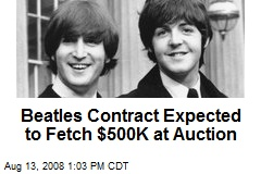 Beatles Contract Expected to Fetch $500K at Auction