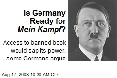 Is Germany Ready for Mein Kampf ?