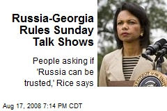 Russia-Georgia Rules Sunday Talk Shows