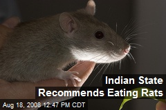 Indian State Recommends Eating Rats