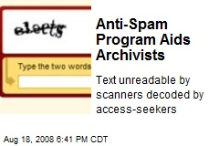 Anti-Spam Program Aids Archivists